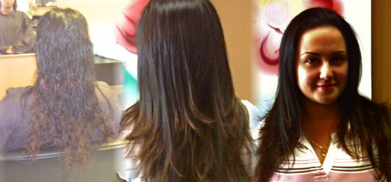 thermal hair straightening